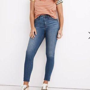 "Madewell 9"" Highrise skinny jeans"